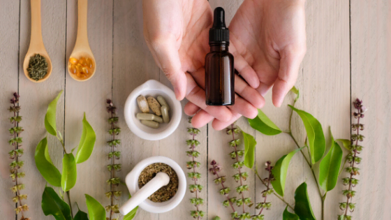 Aromatherapy essential oils herbs spices fresh plants