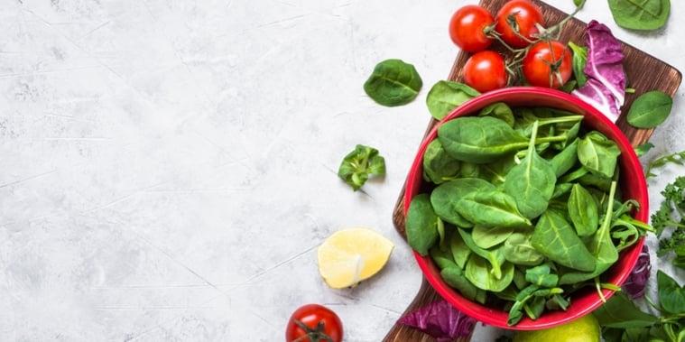 Assuaged-Spinach-Bowl-Tomatoes-Vegan-Image