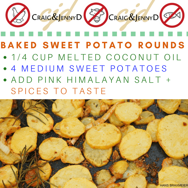 Delicious and Easy Organic Baked Sweet Potatoes Rounds!