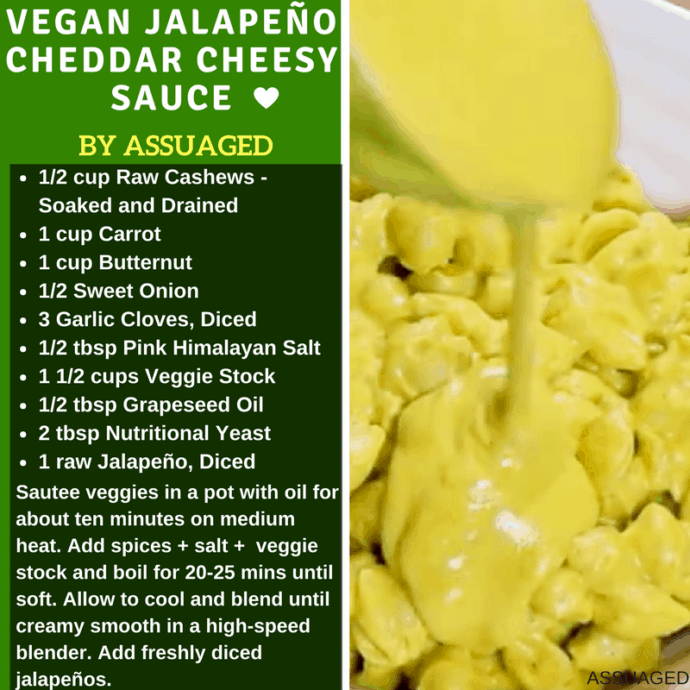 Vegan Jalapeno Cheddar Chessy Sauce