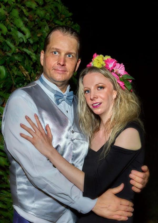 Thane and Cynthia Murphy at Kiss the Monkeys Beverly Hills Ball. Photographer: Peter Koutun