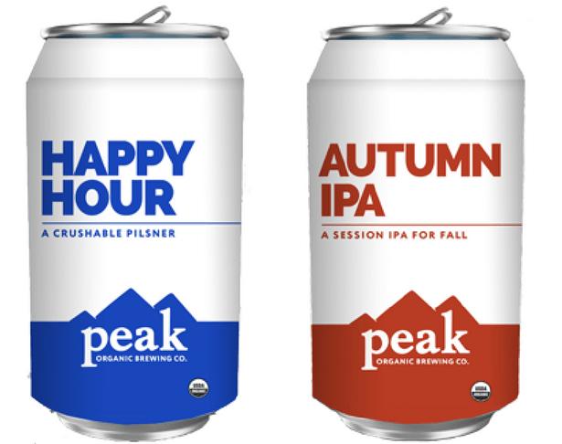 Peak Brewing Organic Beer Selections