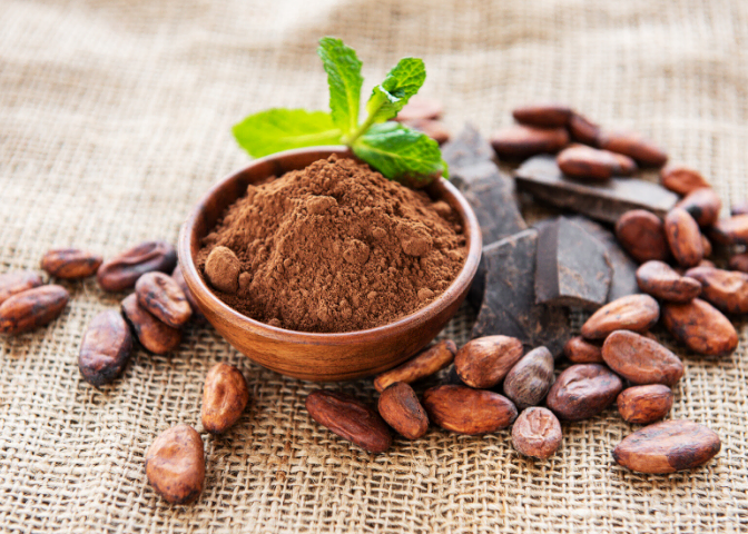 raw cocao nibs powder superfood dark chocolate blog image