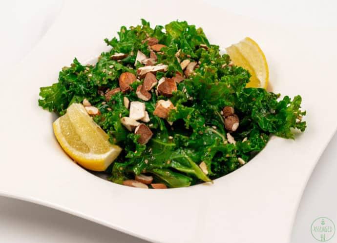Asian Kale Salad with Ginger Sesame Dressing