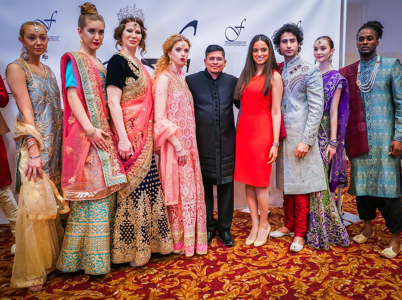 Prashant Goyal of Heritage India Fashions celebrates beauty in diversity by featuring models with disabilities at Kiss the Monkeys Celebrity Gala FAO Schwarz Royalton