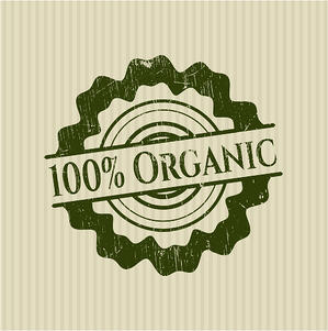 100% Organic rubber stamp