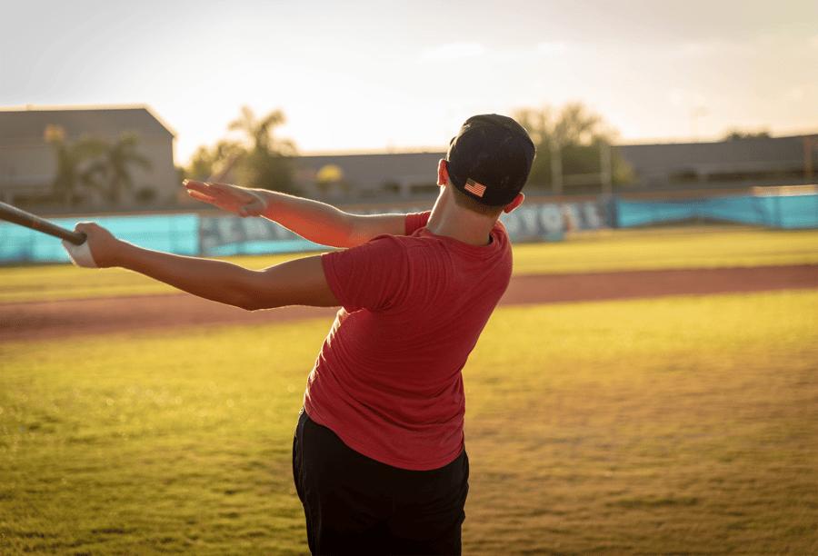 boy playing baseball fitness